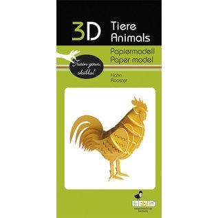 3D Papiermodell, Rooster