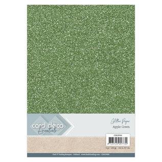 Card Deco Essentials Glitter Papier Apple Green