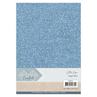 Card Deco Essentials Glitter Papier Bright Blue