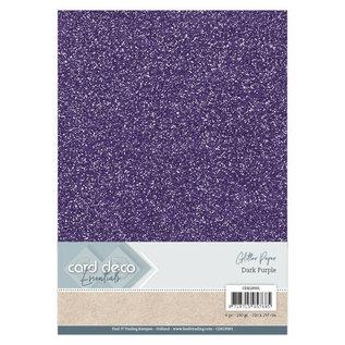 Card Deco Essentials Glitter Papier Dark Purple