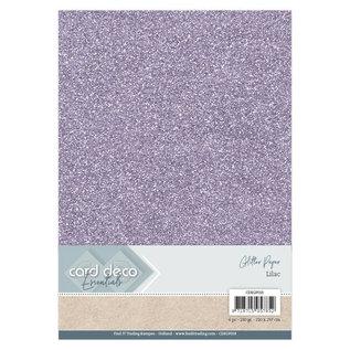 Card Deco Essentials Glitter Papier Lilac