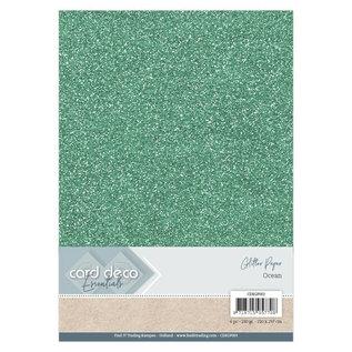 Card Deco Essentials Glitter Papier Ocean