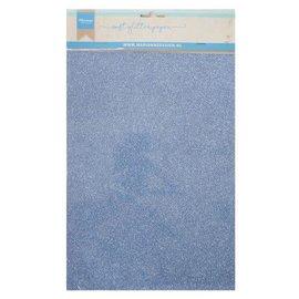 Marianne D Decoratie Soft Glitter papier 5 vel Blauw