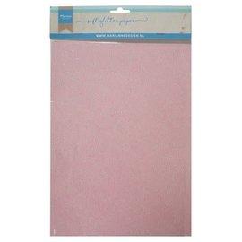 Marianne D Decoratie Soft Glitter papier 5 vel Lichtroze