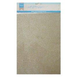Marianne D Decoratie Soft Glitter papier 5 vel Platina