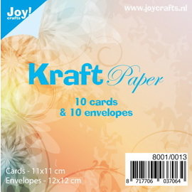 Kraft Paper 10 cards & 10 envelopes 12x12cm