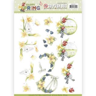 3D Puchhout - Precious Marieke - Happy Spring - Happy Daffodils