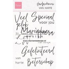 Marianne design Marianne Design Clear Stamp Handgeschreven - van harte