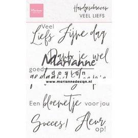 Marianne Design Clear Stamp Handgeschreven - veel liefs