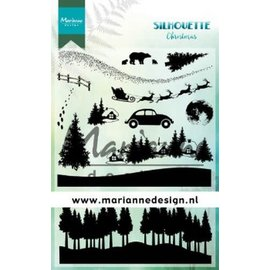 MD Clear Stamp Silhouette Kerst