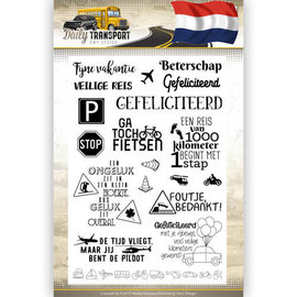 clear stamp Daily transport text stamp NL