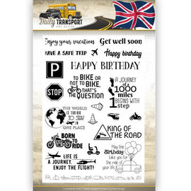 Clearstamp text Amy Design Daily Transport English