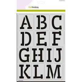 CraftEmotions stencil - alfabet CraftEmotions 2xA4 - H=60mm
