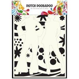 Dutch Doobadoo Dutch Mask Art stencil flower power 2   A4