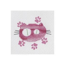 DMC, Kids Craft le chat rose, 15x15cm