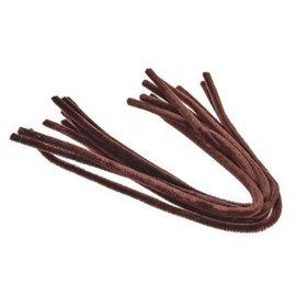 Chenille 50cm 10st. bruin