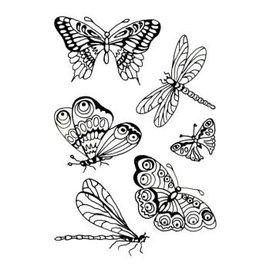 Clearstamp vlinders transparant
