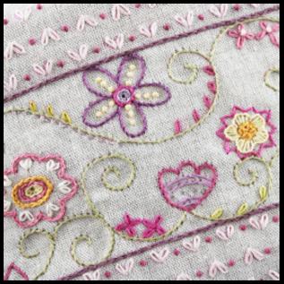 Borduurpakket: Trousse fleurie