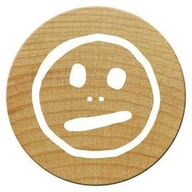 Houten mini stempel Woodies 15mm (Smile2) PER STUK