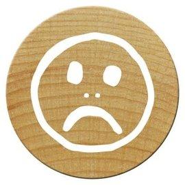 Houten mini stempel Woodies 15mm (Smile3), PER STUK