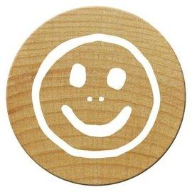 Houten mini stempel Woodies 15mm (Smile1) PER STUK