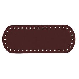 Tassenbodem Leder 8x21cm - Zwart