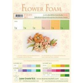 Flower Foam set 3, 6 vellen A4, zalm