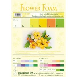 Flower Foam set4, 6 vellen A4 Geel