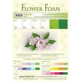 Flower Foam set 6, 6 vellen A4, wit - groen