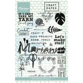 Marianne Design Clear Stamp craft dates 1