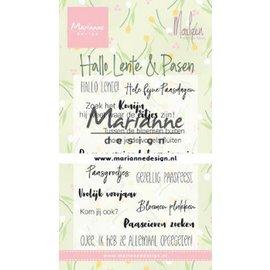 Marianne Design Clear Stamp Marleen's Hallo Lente & Pasen