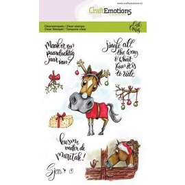 Craft Emotions Clearstamps A6 - Sjors 1 - Leuke Paarden