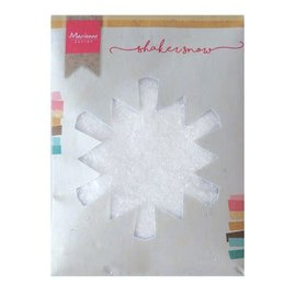 Marianne Design shaker snow - fijne sneeuw met glitter  50g