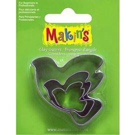 Makin's Uitsteekvorm set duif ca. 2 - 4 cm