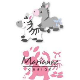 Marianne Design Collectables Eline's zebra & donkey