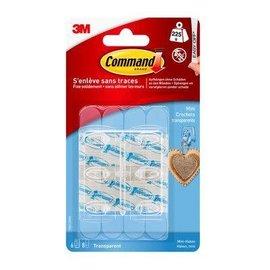 Command transparante minihaken met transparante strips