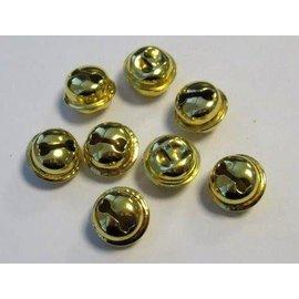Kattebelletjes goudkleur 15 mm 8 ST