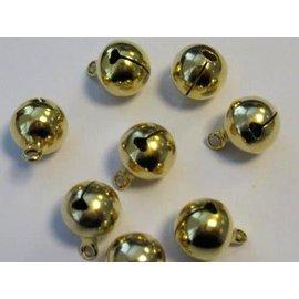 Sieraden belletjes goudkleur 12 mm 8 ST