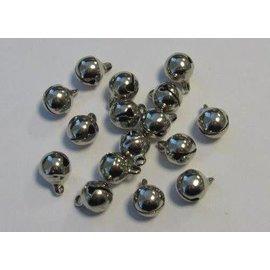 Sieraden belletjes zilver 8 mm 16 ST