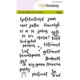 Craft Emotions Clearstamps A6 - Handletter - Huwelijk