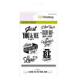 CraftEmotions clearstamps A6 - teksten Valentijn (engels)