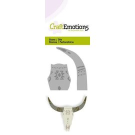 CraftEmotions Die - skull Mexican style -  stier