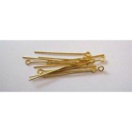 Kettelstiften met oog goudkleurkleur 32 mm 100 ST