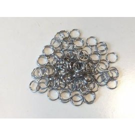 Key Rings 12mm platinum 100 ST polybag