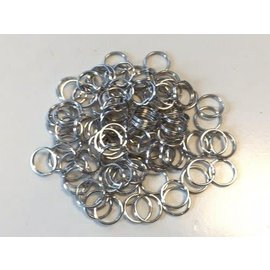 Key Rings 15mm platinum 100 ST polybag