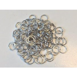 Key Rings 18mm platinum 100 ST polybag