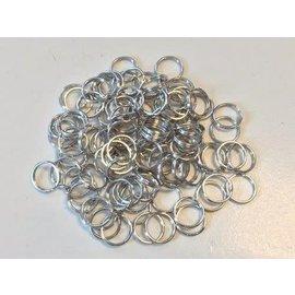Key Rings 18mm platinum 9 ST