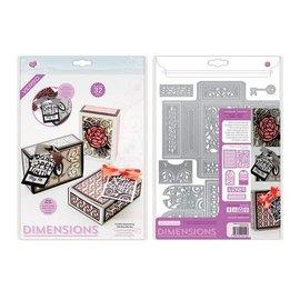 Tonic Studios Die Dimensions a little something gift box die set