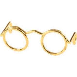 Bril, b: 25mm, 10 stuks, goud
