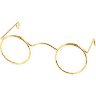 Bril, b: 60mm, gatgrootte 21mm, 10 stuks, goud